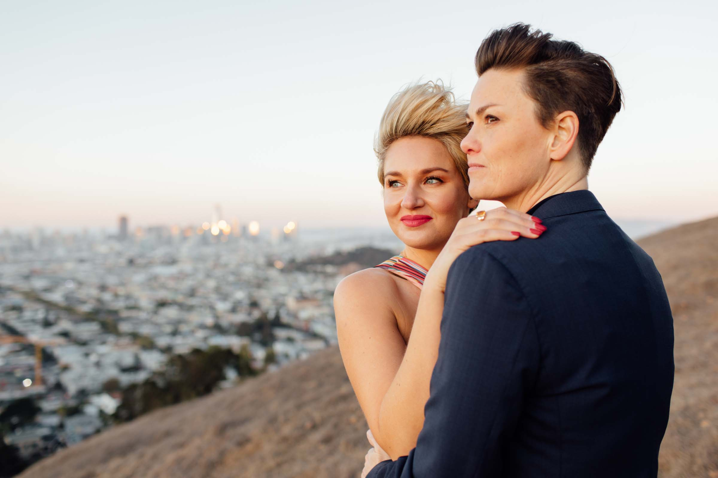 Simone Anne San-Francisco lesbian gay couple Engagement proposal Dancing With Her magazine