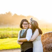 South African Chinese-American biracial lesbian same-sex couple wedding Dancing With Her magazine