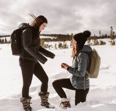 Surprise Engagement Shoot in the Snow - Dancing With Her - Denver Colorado LGBTQ+