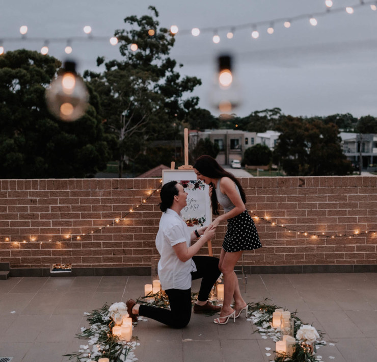 Sydney Luxury Proposal Company - Dancing With Her - Same-Sex Engagement