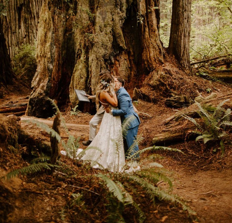 Taylor McCutchan photography redwoods forest Ohio USA America lesbian gay same sex couple wedding elopement Dancing With Her print magazine