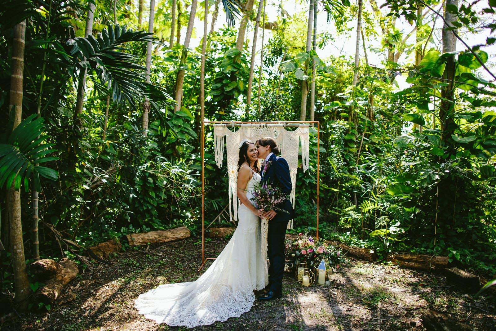 Tiny House Photo Gina Marie Weddings & Events two brides outside crystals Dancing With Her