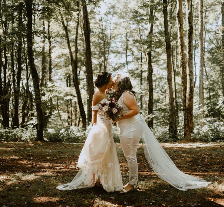 Upstate Summer Farm lesbian two brides Wedding Meadowlark Stills photography Dancing With Her Magazine
