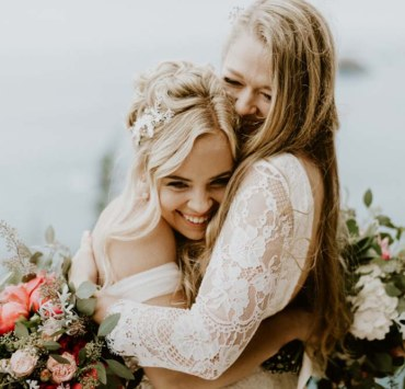Anni Graham photography lesbian same-sex couple two brides farm wedding elopement USA California Californian Dancing With Her online wedding directory