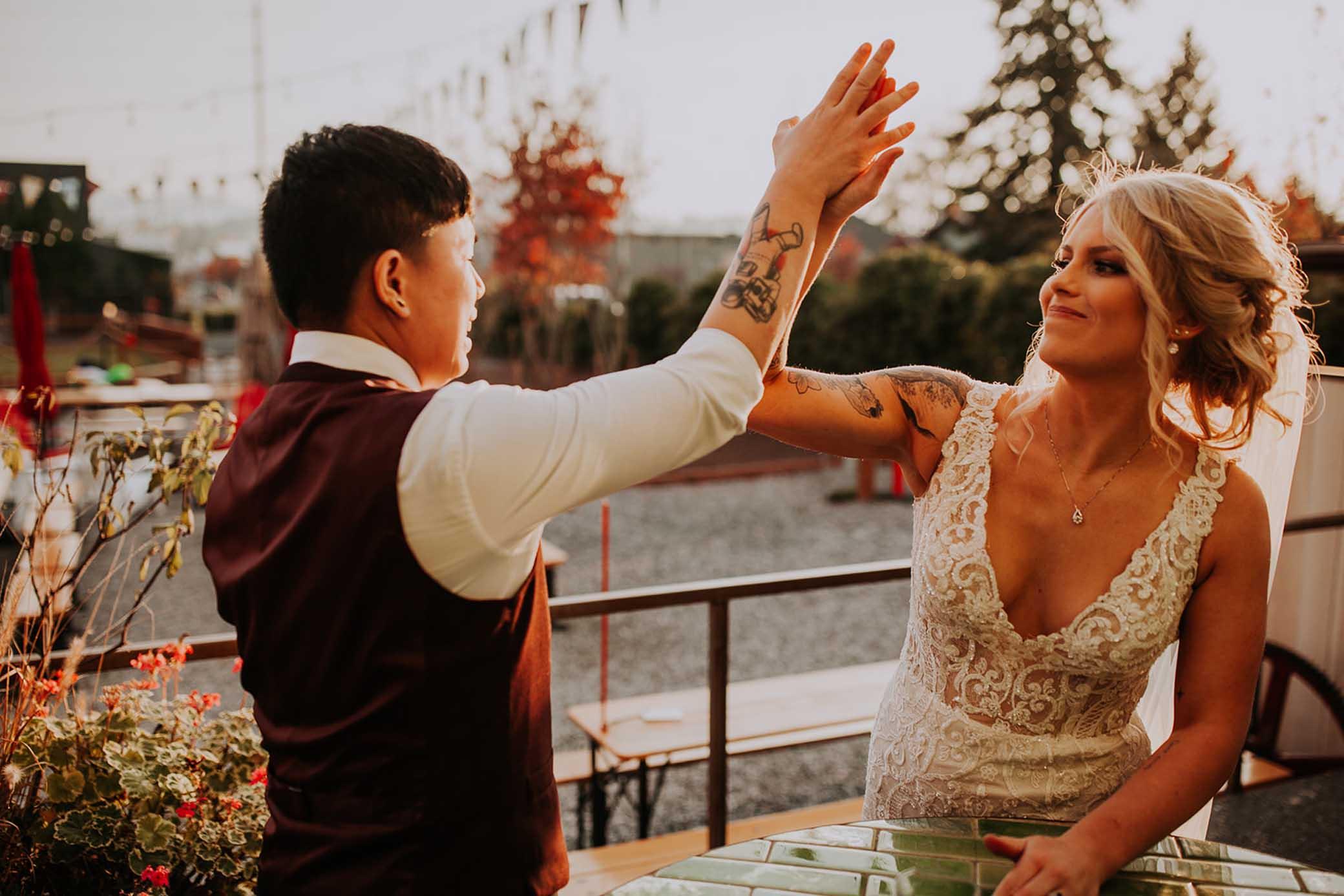 Ariena Photography Washington USA lesbian gay queer Filipino wedding marriage Dancing With Her lgbt magazine