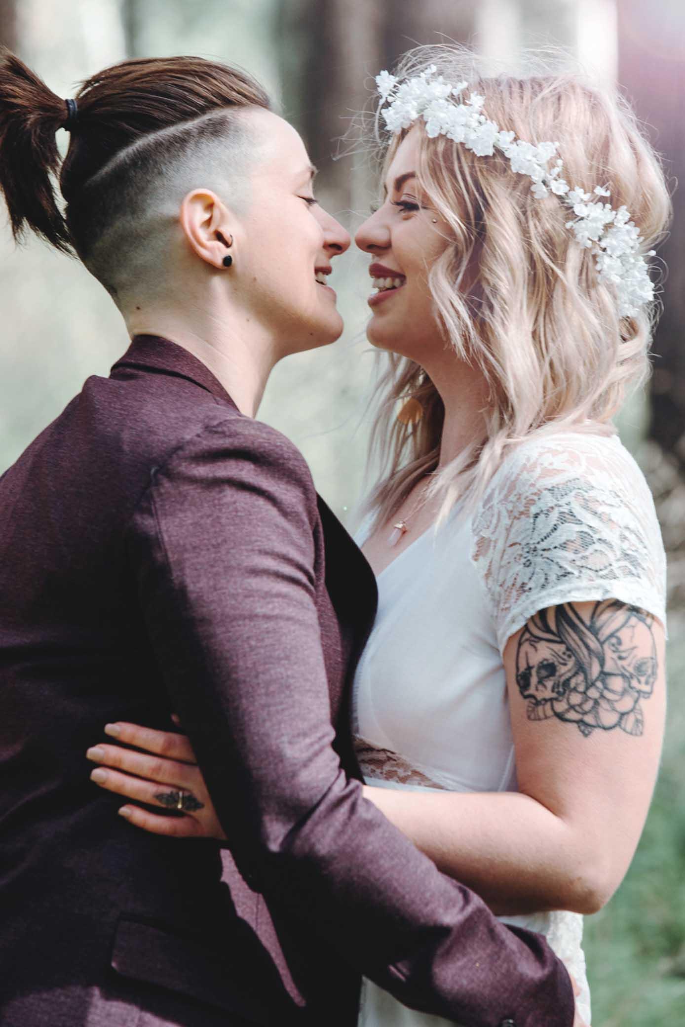 Blush Wedding Photography lesbian gay same-sex lgbt couple wedding Adelaide DIY South Australian Dancing With Her Australia