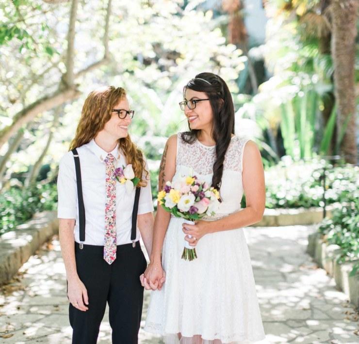 Christine Skari lesbian two bride Jewish Spanish cultural gay wedding elopement USA America Dancing With Her print magazine
