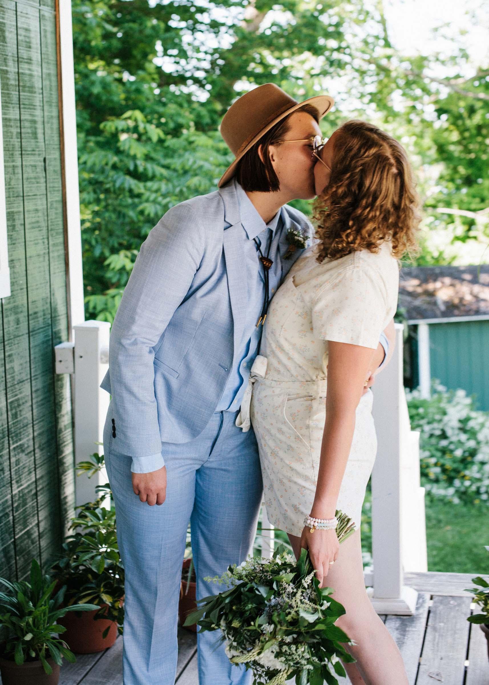 Dan McMahon lesbian lgbt+ same-sex elopement wedding Danville Vermont USA America Dancing With Her