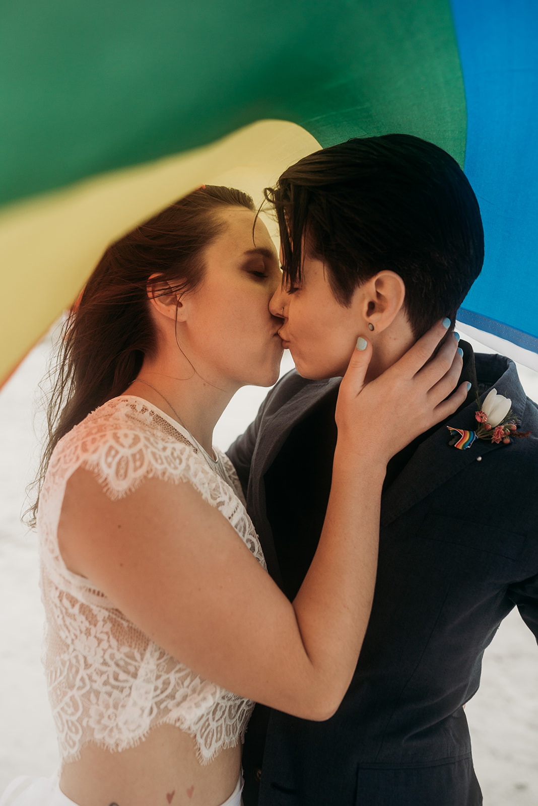 Emily Burns Photography lesbian gay same-sex couple wedding marriage America American Dancing With Her magazine