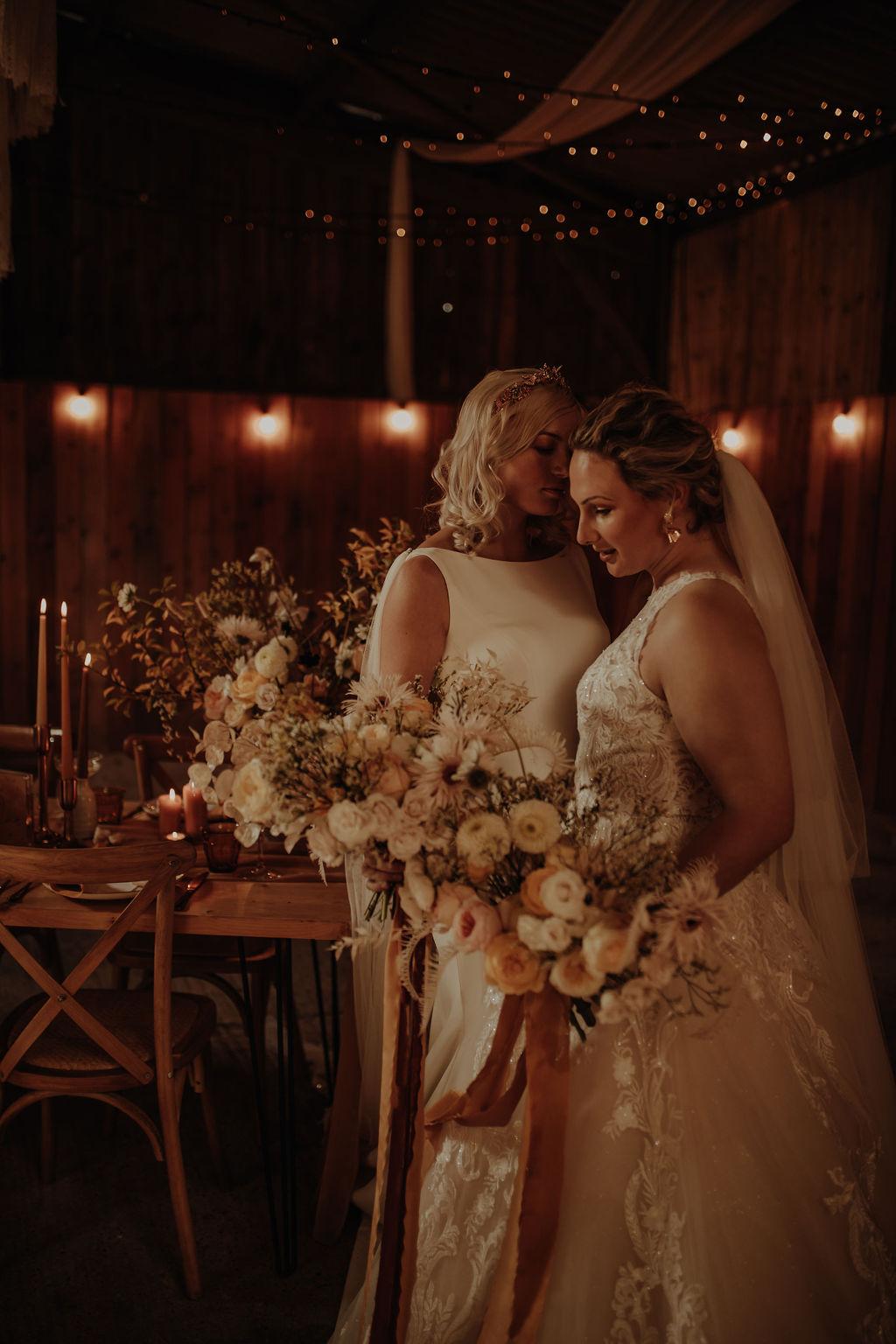 Esme Whiteside photography East Yorkshire United Kingdom UK lesbian gay queer trans women romantic moody wedding marriage Dancing With Her worldwide wedding directory magazine