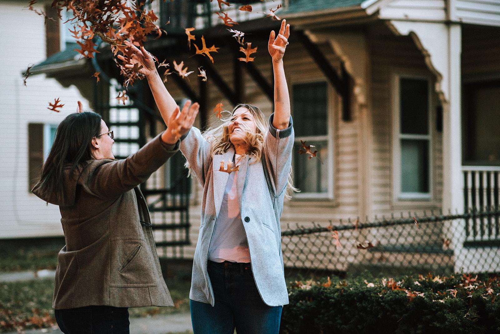 Evergreen Weddings photography lesbian woman in love lgbtqia gay Northampton, Massachusetts USA greenhouse garden engagement proposal photos Dancing With Her