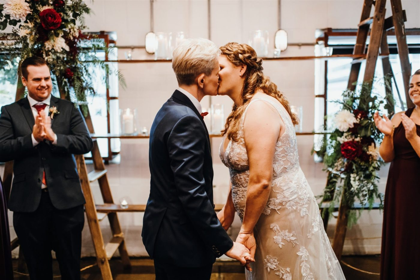 Same-Sex Wedding Inspiration Morgan Roberts Photography Gold Coast Brisbane Queensland lesbian gay queer lgbt couple wedding photos Dancing With Her digital magazine