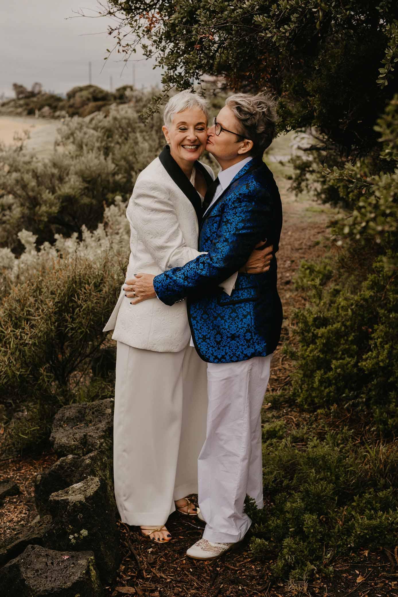 Til Death Wedding Film & Photography lesbian gay queer older couple Australian wedding elopement Melbourne Victoria Dancing With Her digital magazine