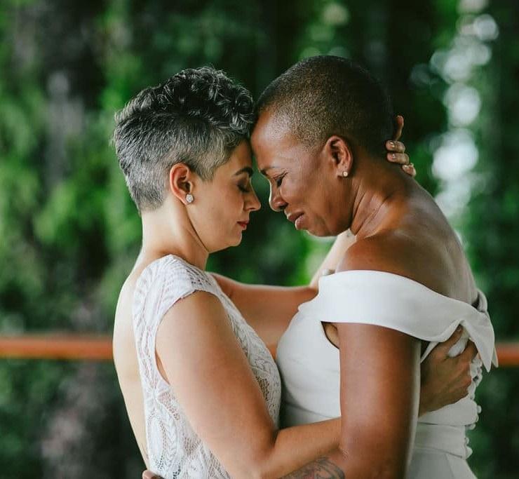 Tiny House Photo LGBTQIA older black couple lesbian gay wedding elopement USA America Dancing With Her digital print magazine