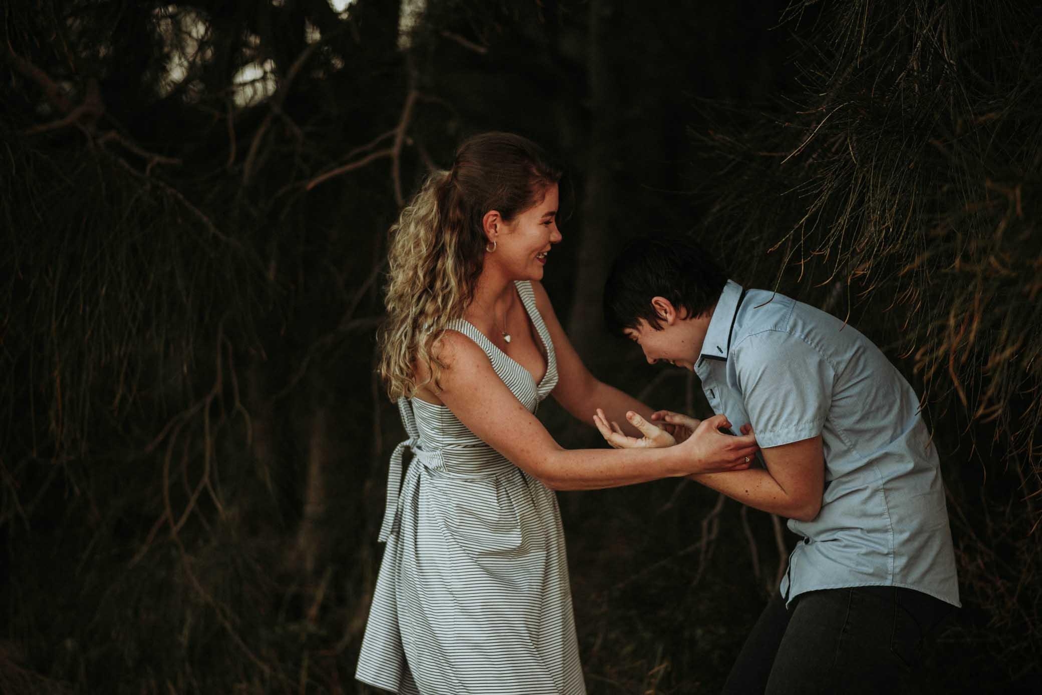Translucent Photography LBGTIQ lesbian gay couple love photographer Dancing With Her Sydney Harbour Bridge Engagement