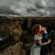 Zakas Photography lesbian gay queer couple Iceland Europe elopement waterfall wedding Dancing With Her international magazine