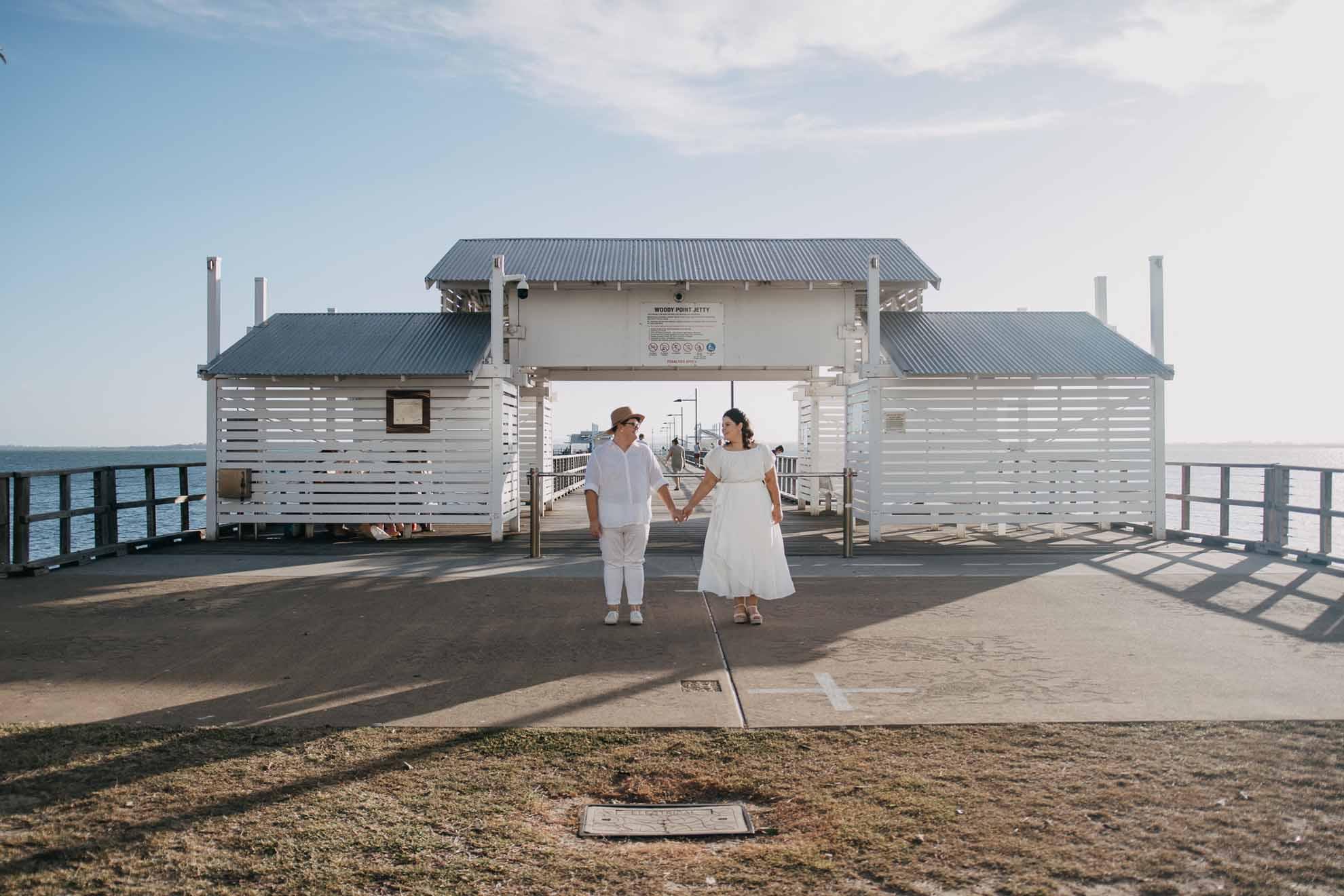 Bent Film Co lesbian same-sex beach elopement wedding Australia Queensland Dancing With Her magazine directory