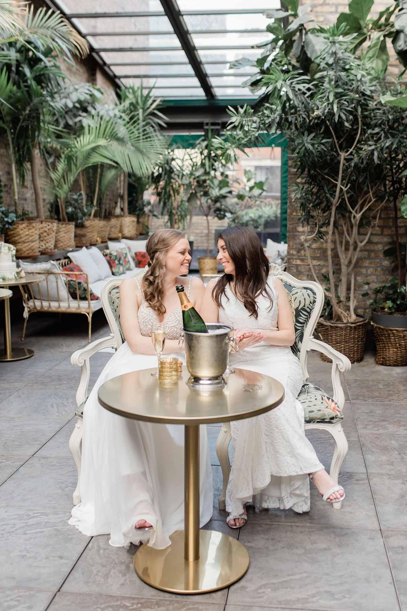 Grey Garden Creative Chicago America lesbian two brides same-sex wedding photography Dancing With Her worldwide print magazine