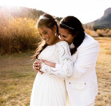 Honey Do Photography lesbian same-sex wedding USA Colorado American ranch farm marriage Dancing With Her magazine
