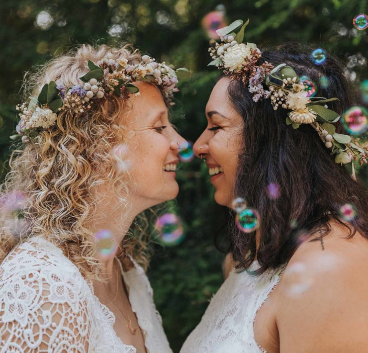 Marissa-Solini-Photography-Drift-Creek-Falls-Elopement-American Woods forest lesbian gay same-sex two bride wedding Dancing With Her magazine