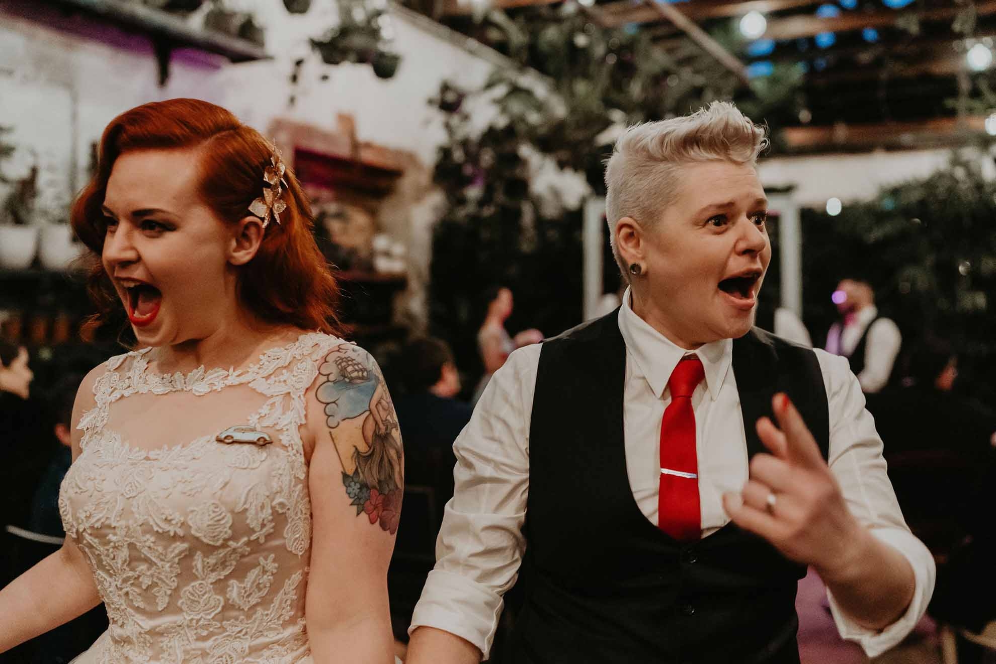 One Spoon Two Spoon photography Melbourne Victorian same-sex lesbian gay wedding The Good Day Club neons rock n roll rockabilly Dancing With Her online magazine directory