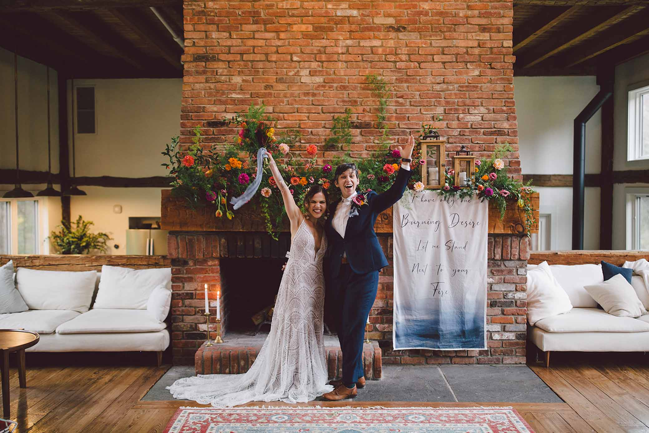 woodstock new york catskills foliage elopement-evangeline lane lesbian gay queer lgbt couple lovers USA Dancing With Her wedding print magazine