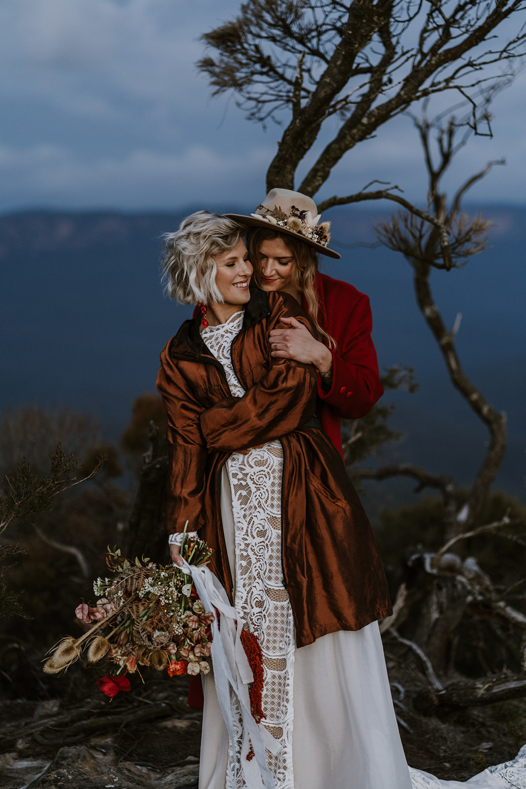 James White Photography Blue Mountains Elopement lesbian gay same-sex couple love wedding Dancing With Her magazine