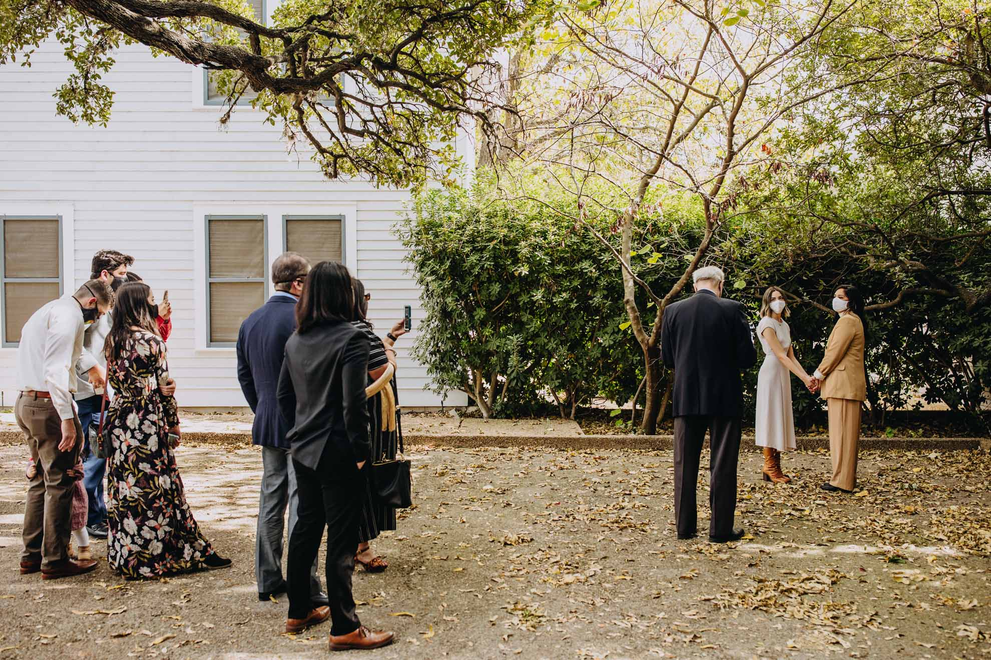 Leah Musen photography lesbian gay same-sex two brides mrs & mrs covid 19 elopement wedding Austin Texas USA Dancing With Her magazine (1)