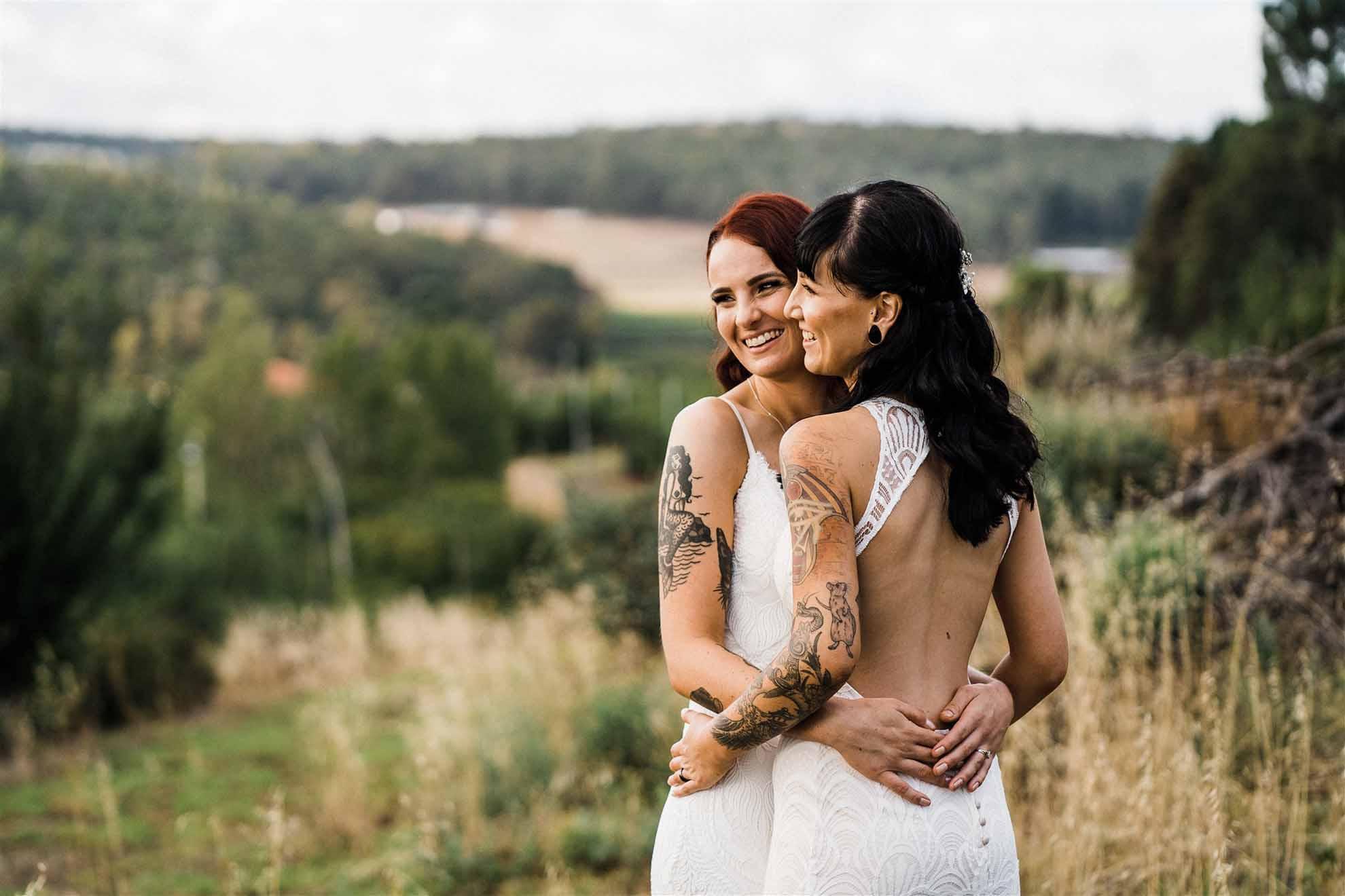 Peggy-Saas-Lesbian-Wedding-Perth-Australia-Dancing-With-Her magazine