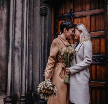Sinead Firman photography same-sex lesbian two brides lgbtqia+ couple covid-19 wedding elopement United Kingdom Edinburgh Dancing With Her (1)