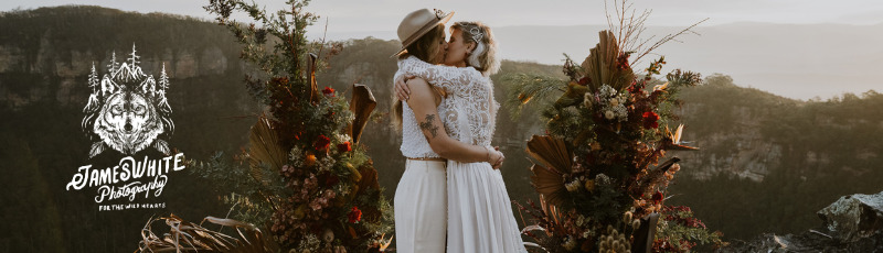 James White Photography Blue Mountains Hunter Valley New South Wales Australia lesbian gay two brides wedding elopement photographer Dancing With Her online directory VENDOR BADGE