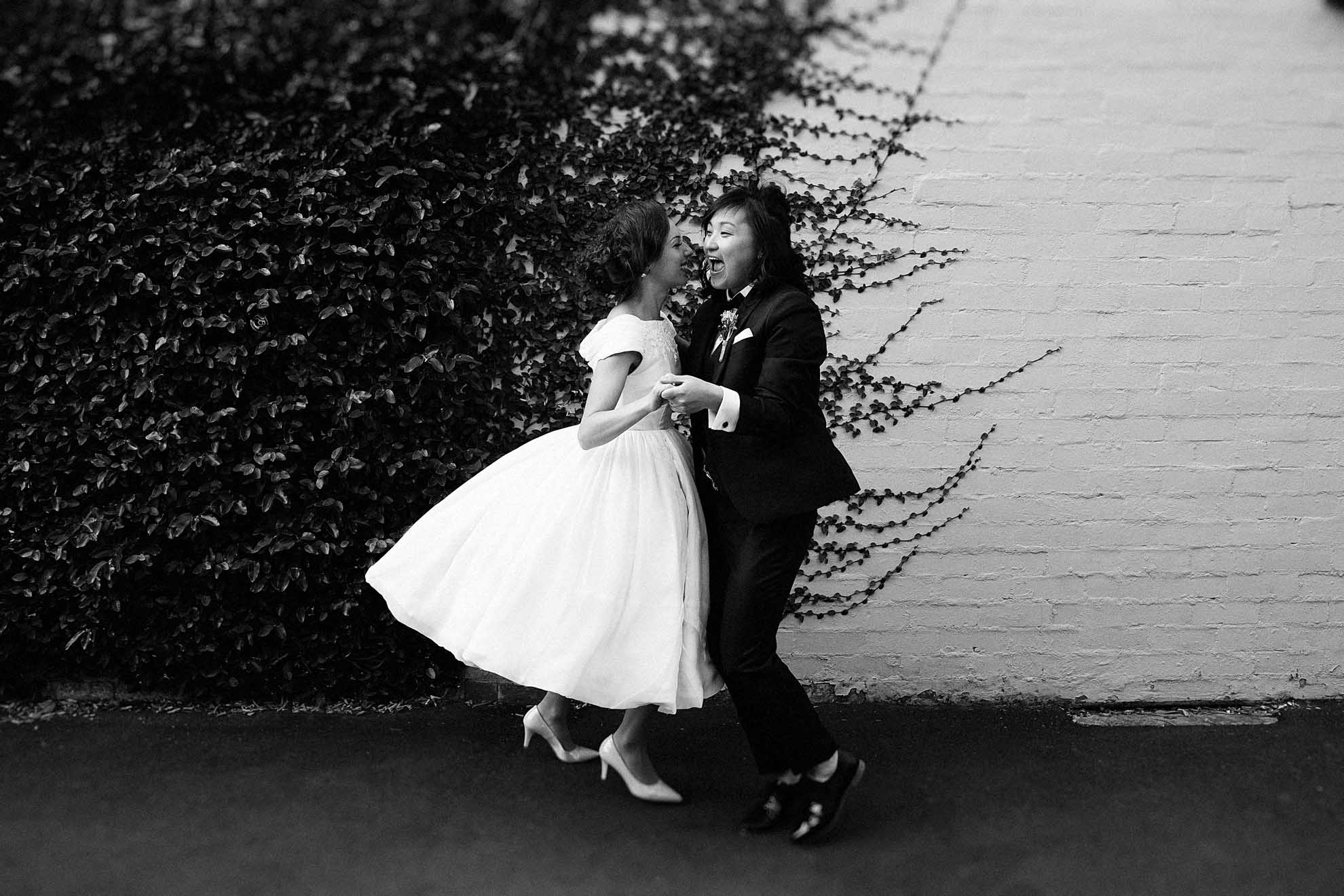 001 finder seeker - Dee from Finder Seeker lesbian gay queer lgbtqia+ Melbourne Victorian wedding engagement photography Dancing With Her