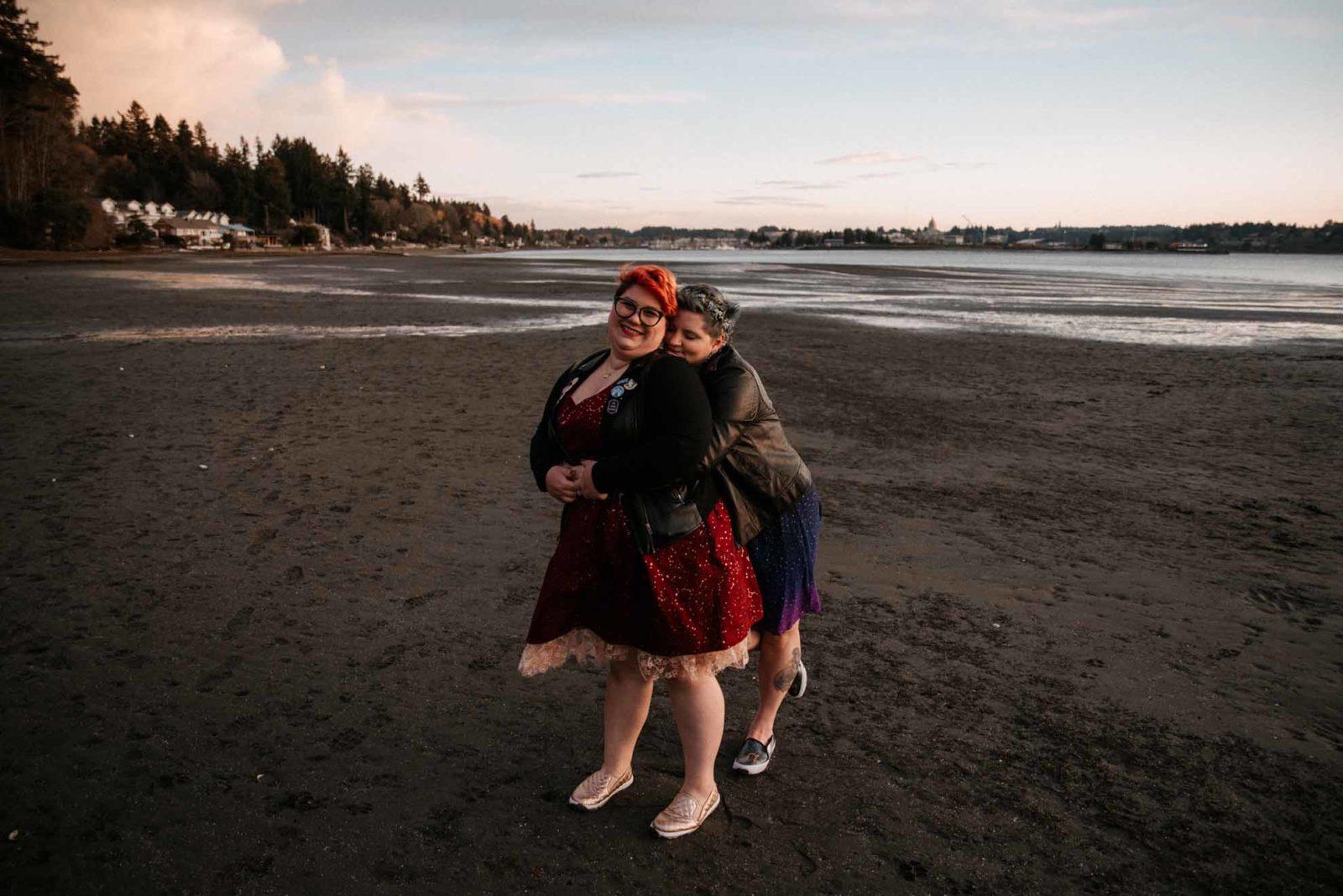 Emett Joseph photography lesbian gay lgbtq+ wedding elopement photography Seattle Washington Dancing With Her magazine