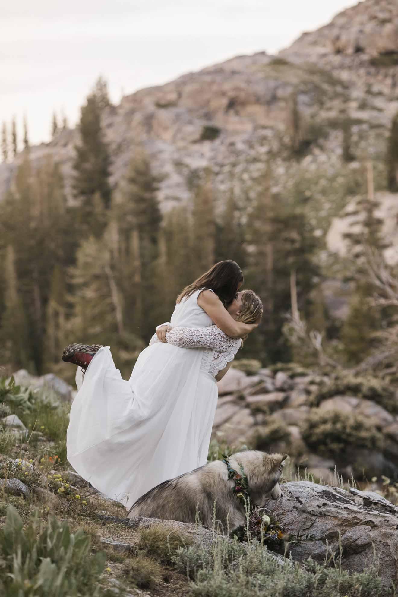 Hiking_Elopement_Sierra_Nevada_Mountains_California USA Natalie N Photography lesbian lgbtqia+ gay wedding marriage Dancing With Her magazine