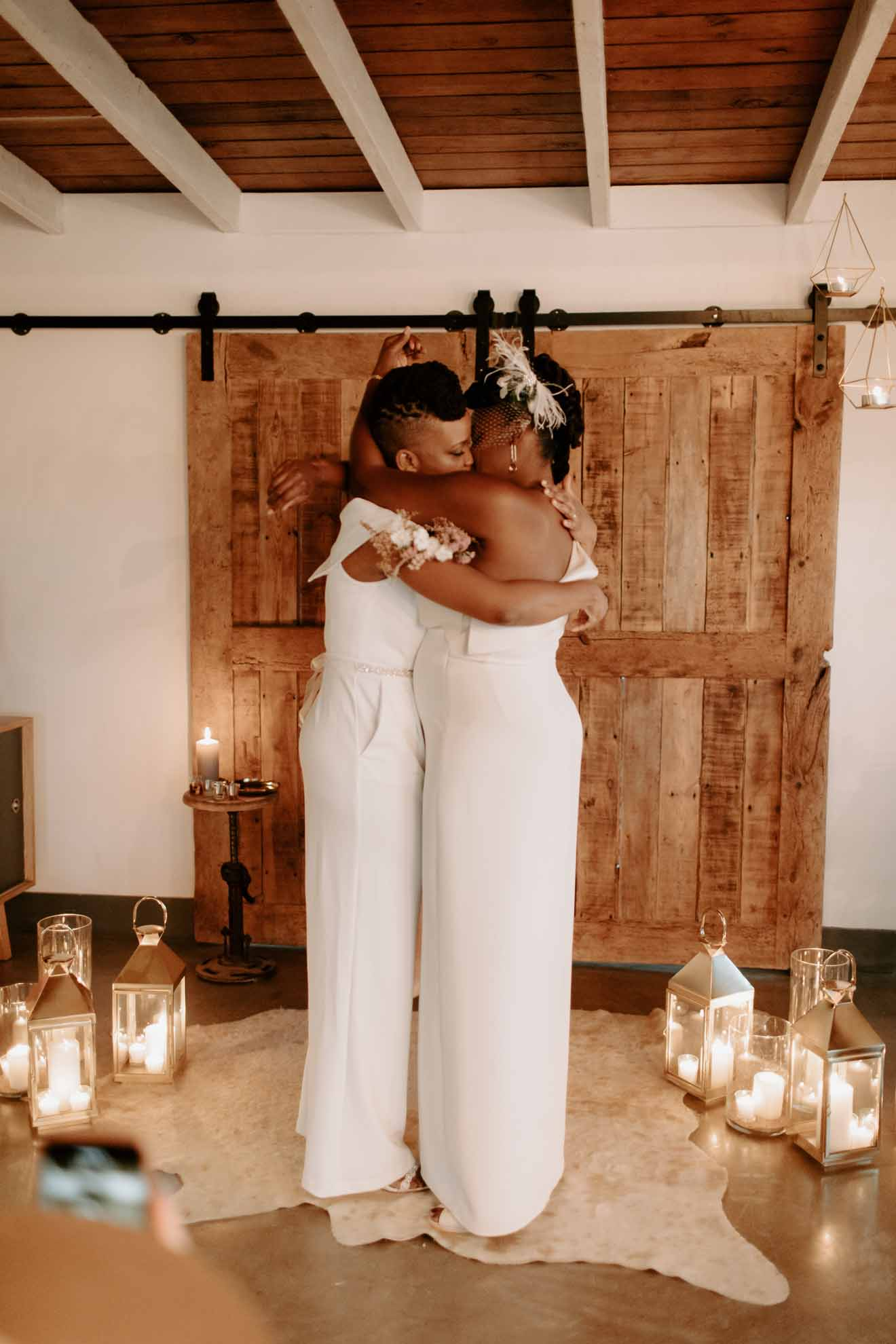 Tree Elopement Shelby Ayn Photography lesbian gay same-sex pregnant black American California couple wedding Dancing With Her magazine online directory (1)