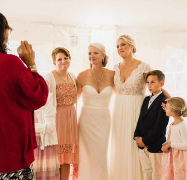Kelly F. Peterson lesbian two brides family ceremony photography Dancing With Her magazine