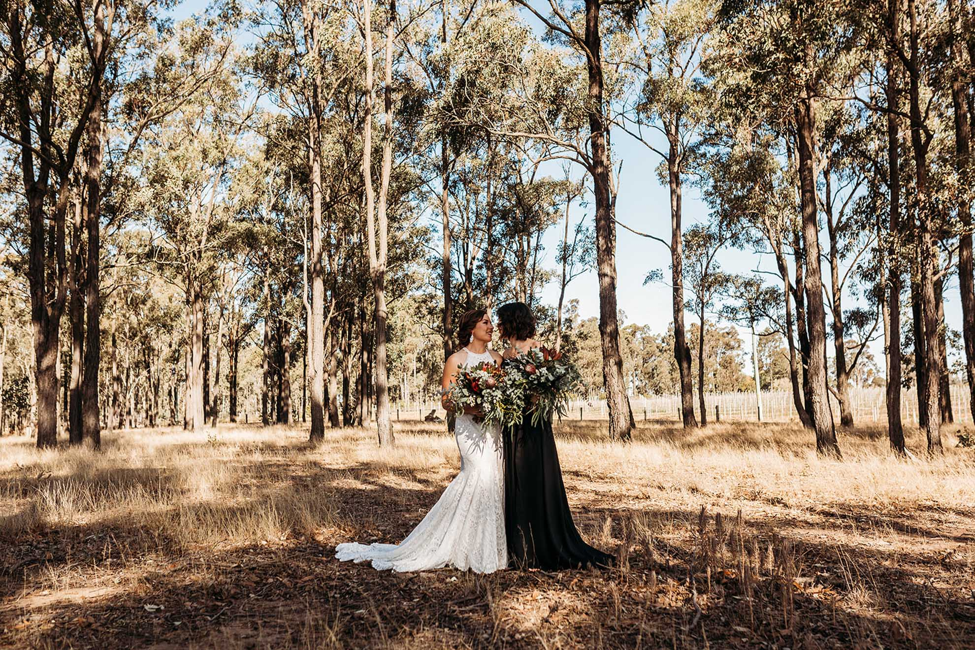 Margan Photography Hunter Valley New South Wales Australia lesbian same-sex two brides wedding Dancing With Her magazine