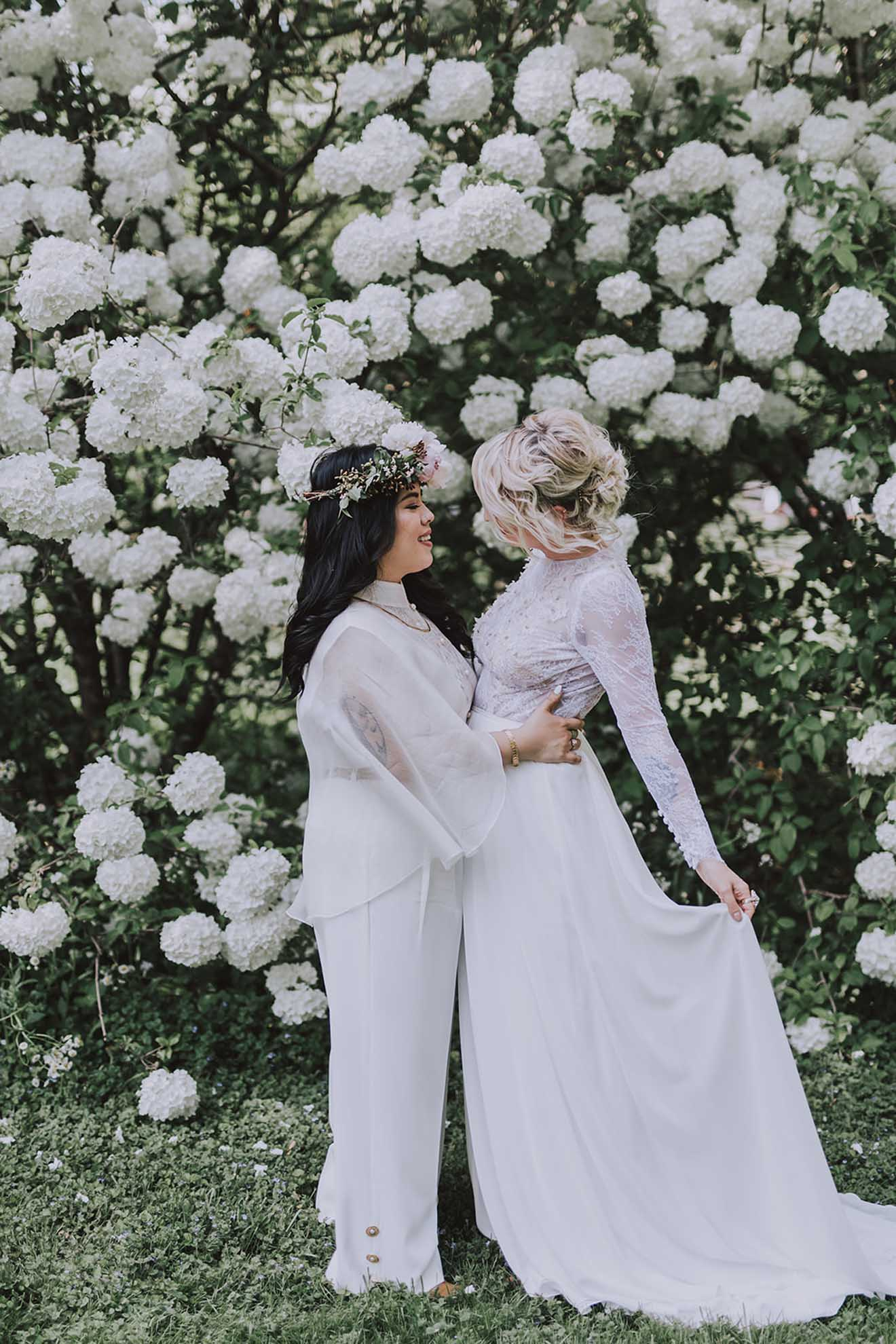 Mary Bell Photography lesbian gay same-sex couple multi-cultural religious Filipino Asian American wedding Dancing With Her magazine