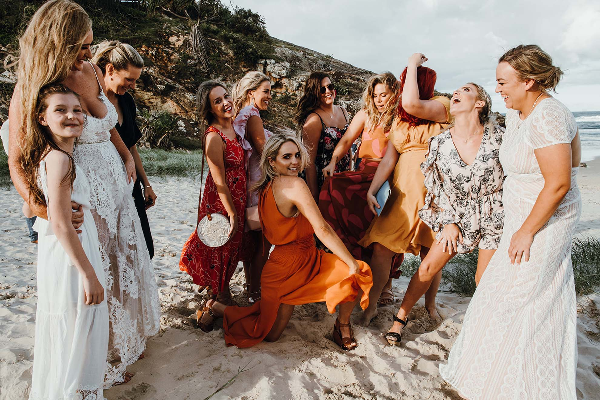 Morgan Roberts photography lesbian gay same-sex beach wedding marriage gold coast elopement Dancing With Her Celebrant Lady Love Vendor (26)