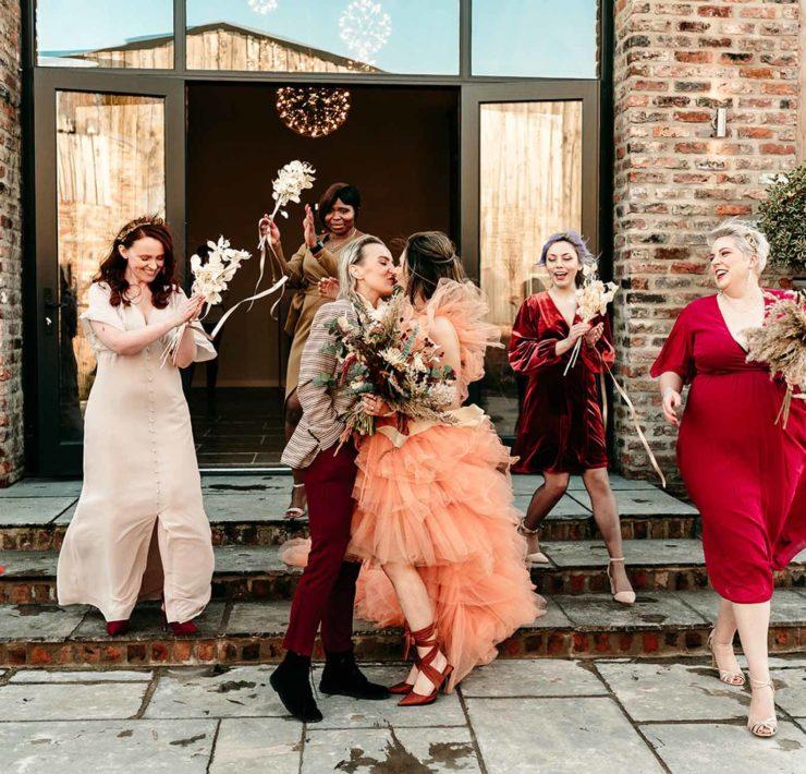yorkshire-wedding-photographer Leeds United Kingdom lesbian gay two brides mrs & mrs wedding Dancing With Her worldwide magazine Kamila Nowak Photography