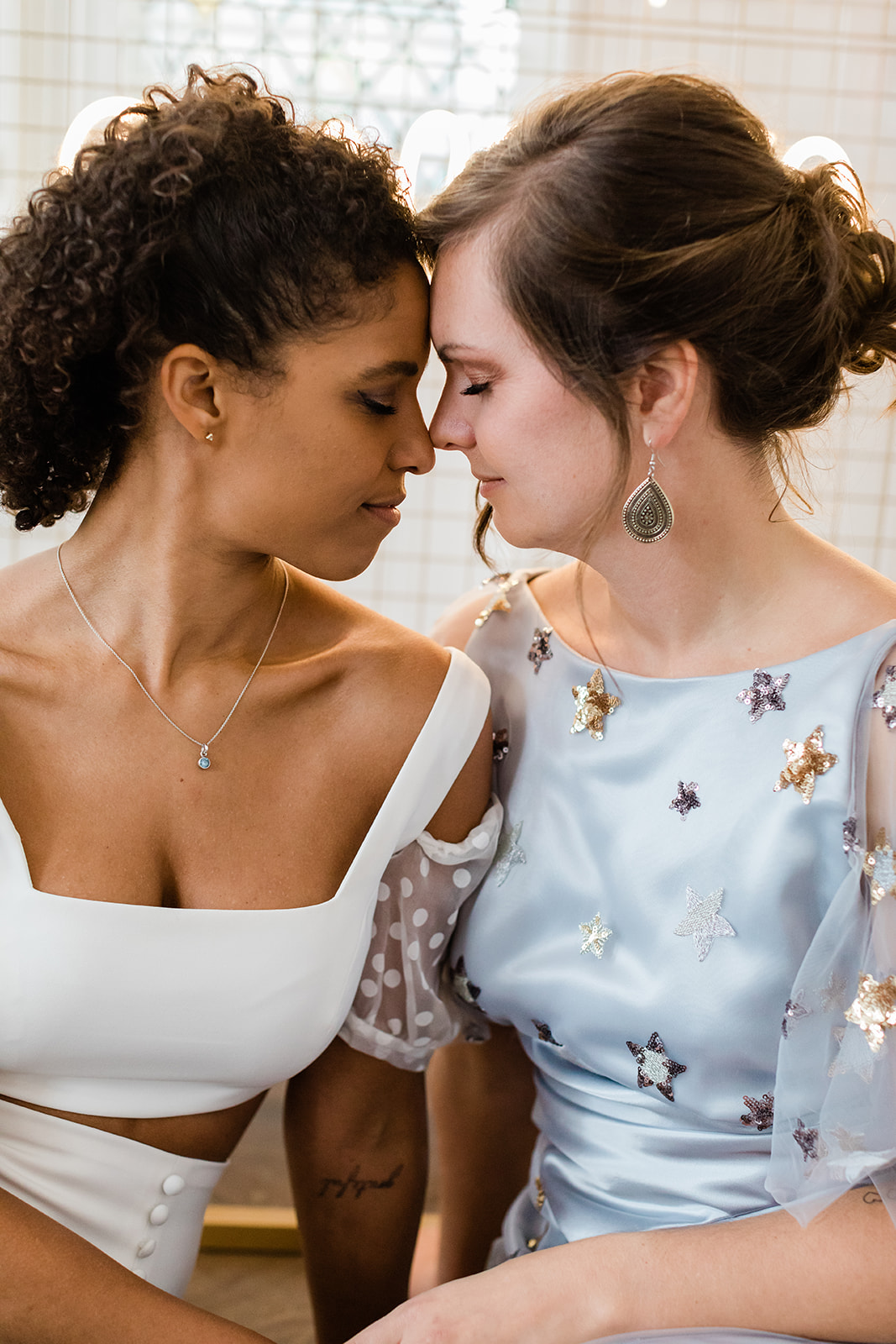 Amy Woodham Photography lgbtq+ lesbian two brides woman love elopement United Kingdom Dancing With Her magazine