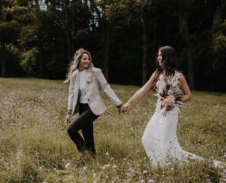 Andie & Ollie Photography lesbian two brides mrs & mrs lgbt+ couple elopement Gold Coast Queensland wedding (1)