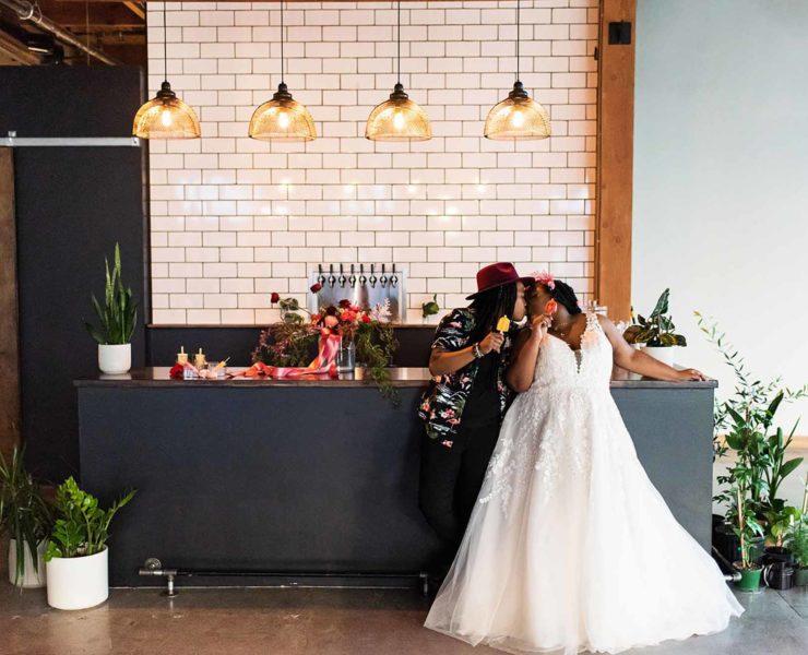 Deena Selbak photography Portland Oregon USA lesbian black lgbtq+ couple elopement Dancing With Her