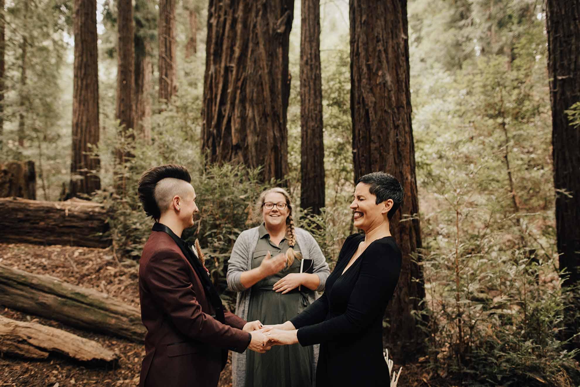 Evynn LeValley Big Sur California lesbian gay lgbtq+ vow renewal elopement Dancing With Her worldwide magazine