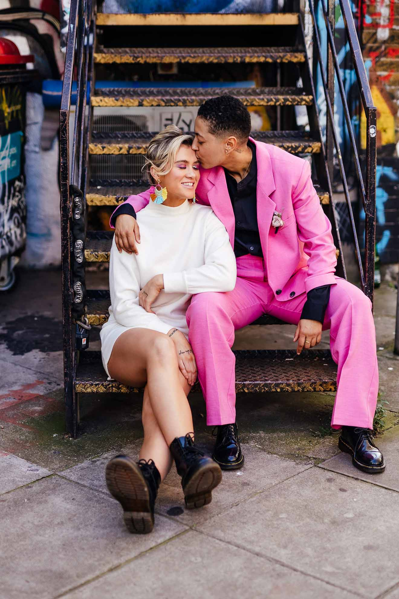 London Elopement Inspiration Kirsty Mackenzie Photography lesbian gay queer non-binary couple United Kingdom (1)