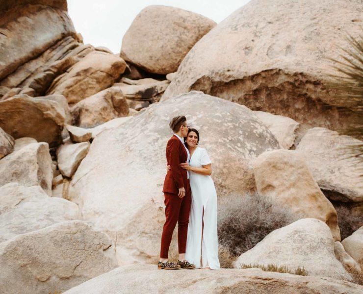 The Hendrys lesbian gay lgbtq+ couple elopement wedding Big Sur California USA Desert Dancing With Her magazine (1)