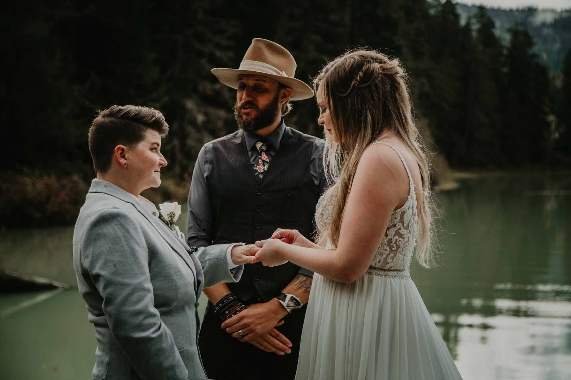 Young, Hip & Married photos lesbian gay lgbtq+ couple mrs & mrs wedding elopement British Columbia Canada Dancing With Her (1)