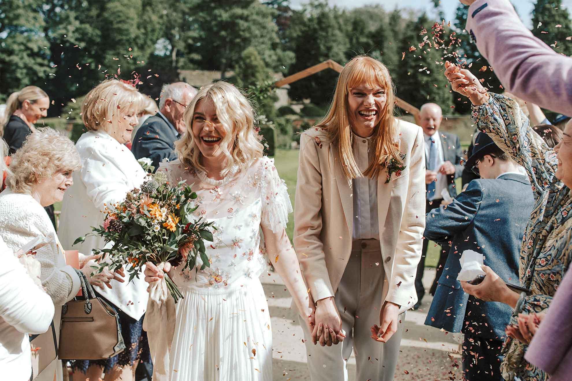 Lianne Gray photography same-sex LGBTQIA+ lesbian two brides wedding United Kingdom Dancing With Her magazine