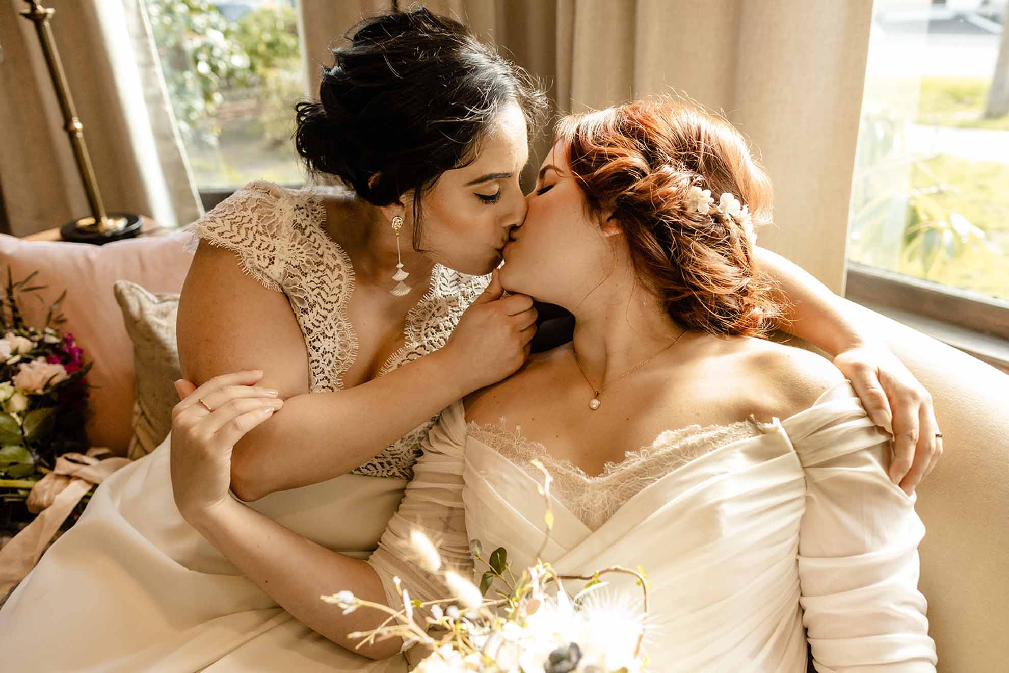 Orting Manor lesbian gay same-sex two brides mrs & mrs wedding TMinspired Photography