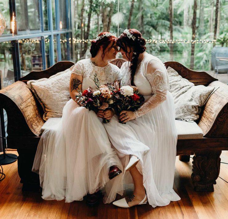 Daphne Sky Studios Mount Tamborine Scenic Rim Gold Coast lesbian gay same-sex covid-19 wedding elopement Dancing With Her